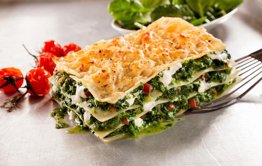 Les lasagnes végétariens de La Crèmerie Royale