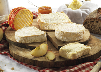 Plateau de cinq fromages normands